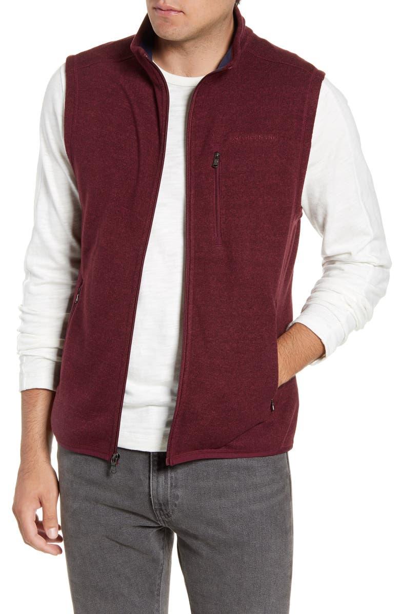 SOUTHERN TIDE Samson Classic Fit Vest, Main, color, HEATHER BLACK CHERRY