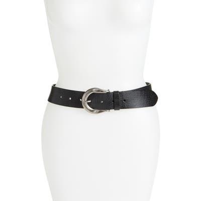 Allsaints Western Leather Belt, Black