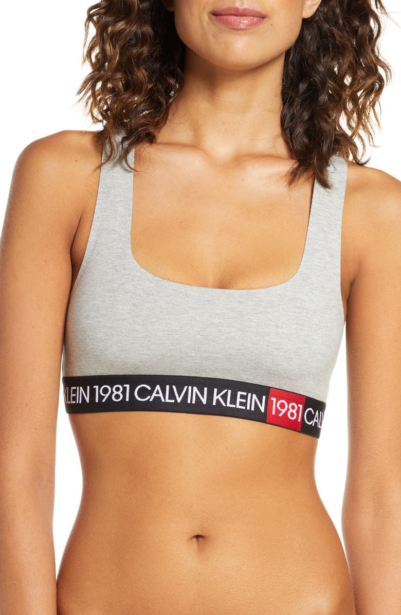 CALVIN KLEIN 1981 Bold Bralette, Main, color, 020