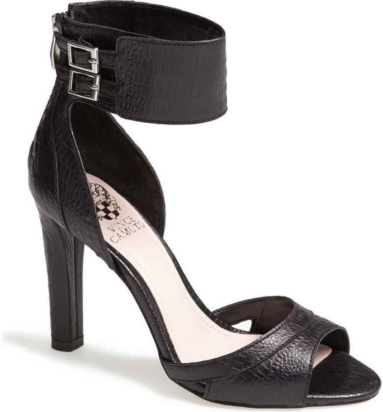 VINCE CAMUTO 'Oljera' Leather Sandal, Main, color, 001