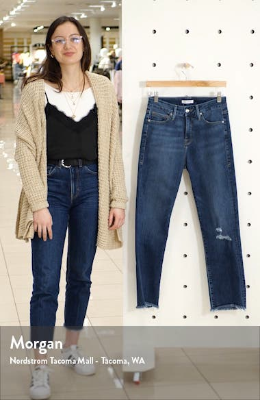 Good Straight Distressed High Waist Ankle Straight Leg Jeans, sales video thumbnail
