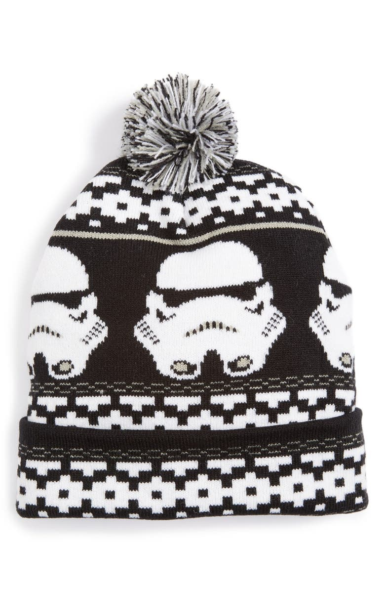 STAR WARS Nolan Glove Star Wars<sup>™</sup> Stormtrooper Pompom Beanie, Main, color, 001