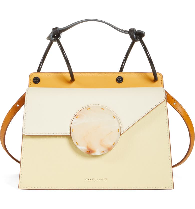 DANSE LENTE Phoebe Bis Acetate Closure Crossbody Bag, Main, color, MARSHMALLOW/ PUMPKIN