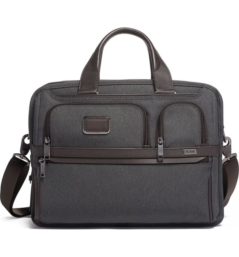 TUMI Alpha 3 Expandable Organizer Laptop Briefcase, Main, color, ANTHRACITE