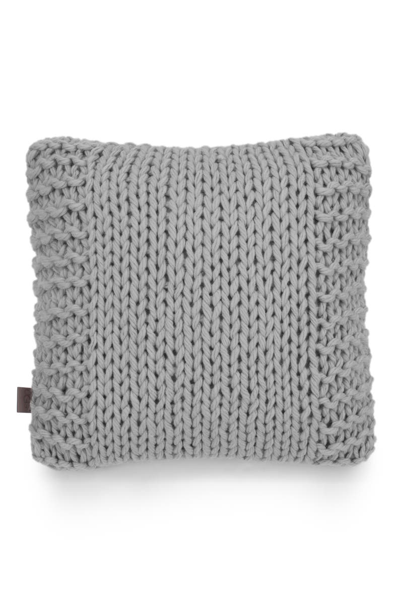 UGG<SUP>®</SUP> Wharf Knit Accent Pillow, Main, color, 020