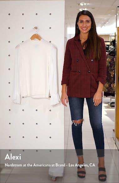 Pleated Sleeve Mock Neck Sweater, sales video thumbnail