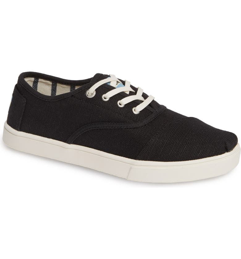 TOMS Cordones Sneaker, Main, color, 001