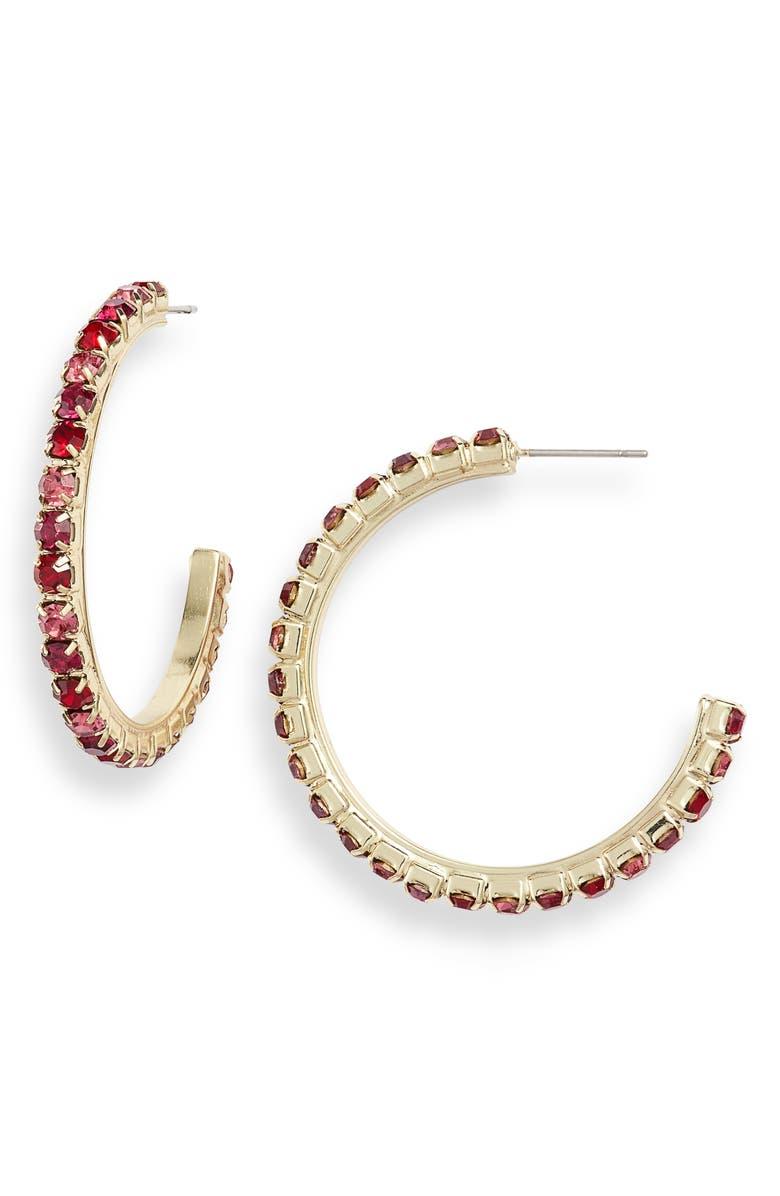 Crystal Hoop Earrings by Stella + Ruby