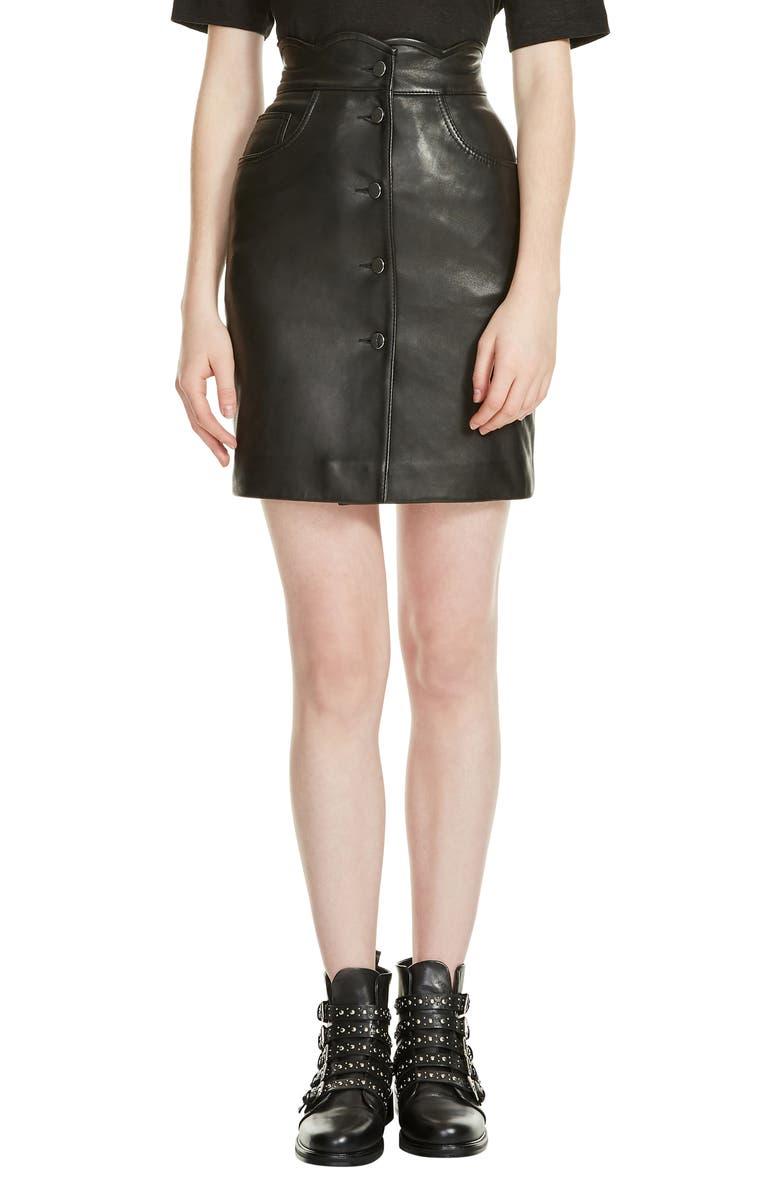 e13306a19 Journey Leather Miniskirt, Main, color, 001