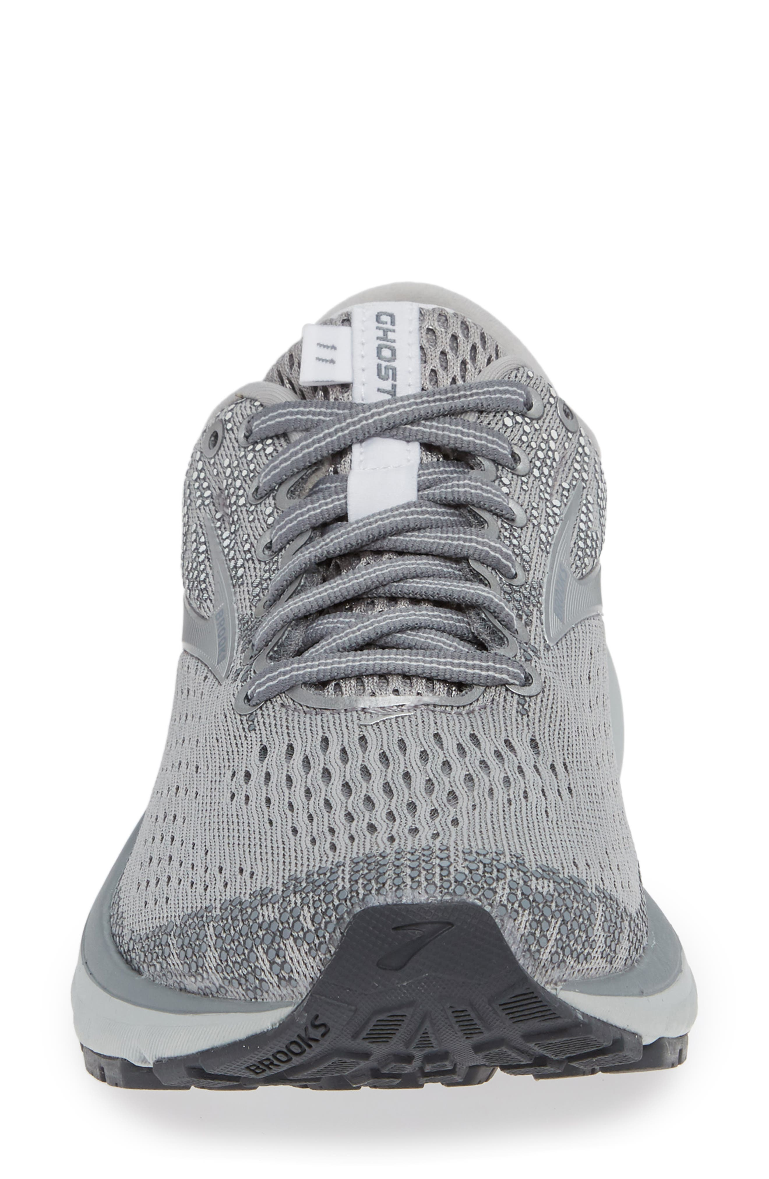,                             Ghost 11 Running Shoe,                             Alternate thumbnail 4, color,                             GREY/ SILVER/ WHITE