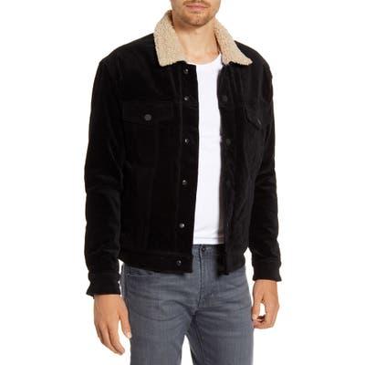Blanknyc Fleece Lined Corduroy Trucker Jacket, Black