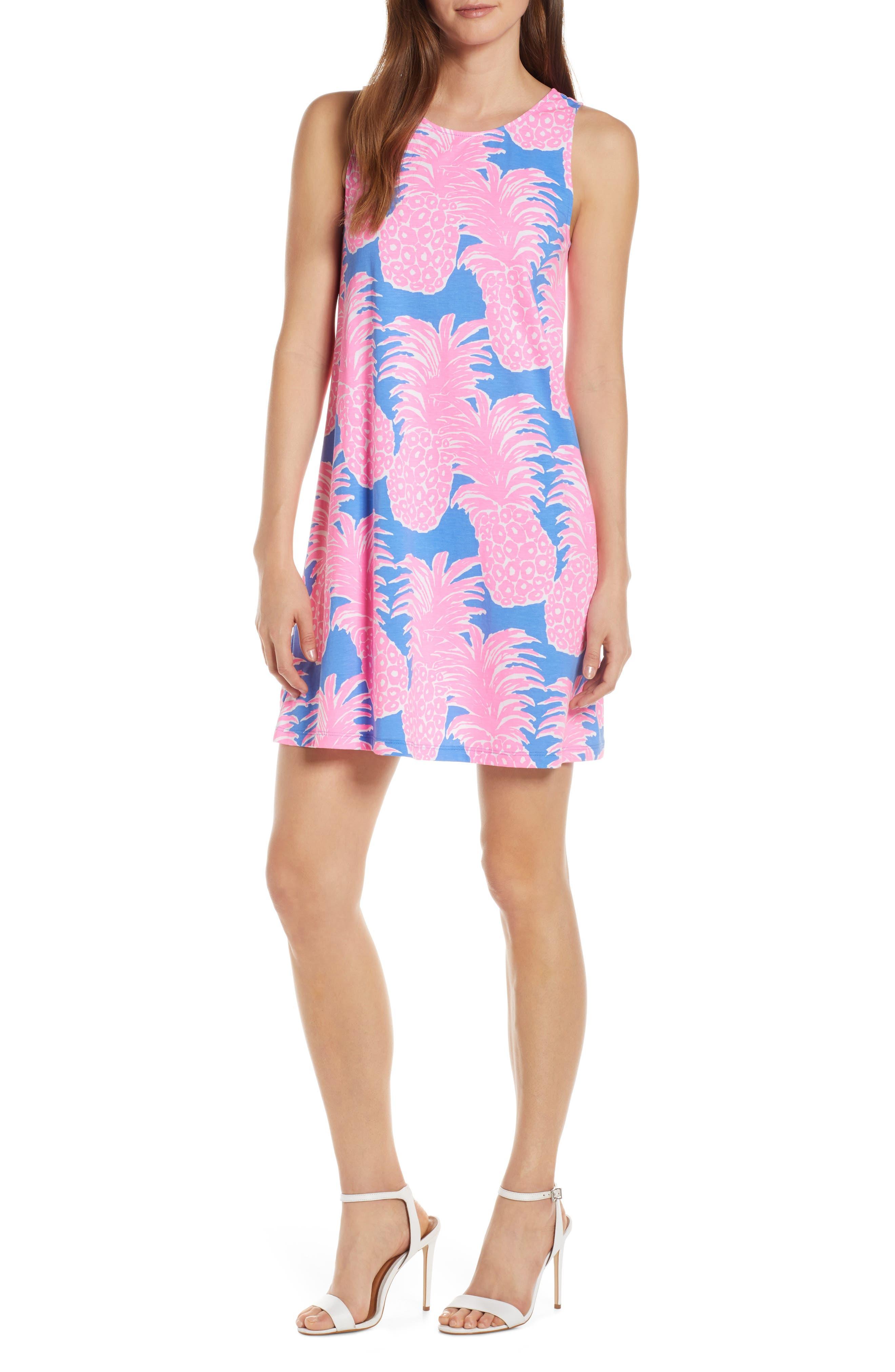 Lilly Pulitzer Kristen Pineapple Print Swing Dress, Blue