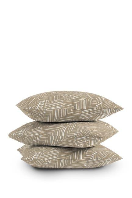 Image of Deny Designs Jenean Morrison Line Break Sand Square Throw Pillow