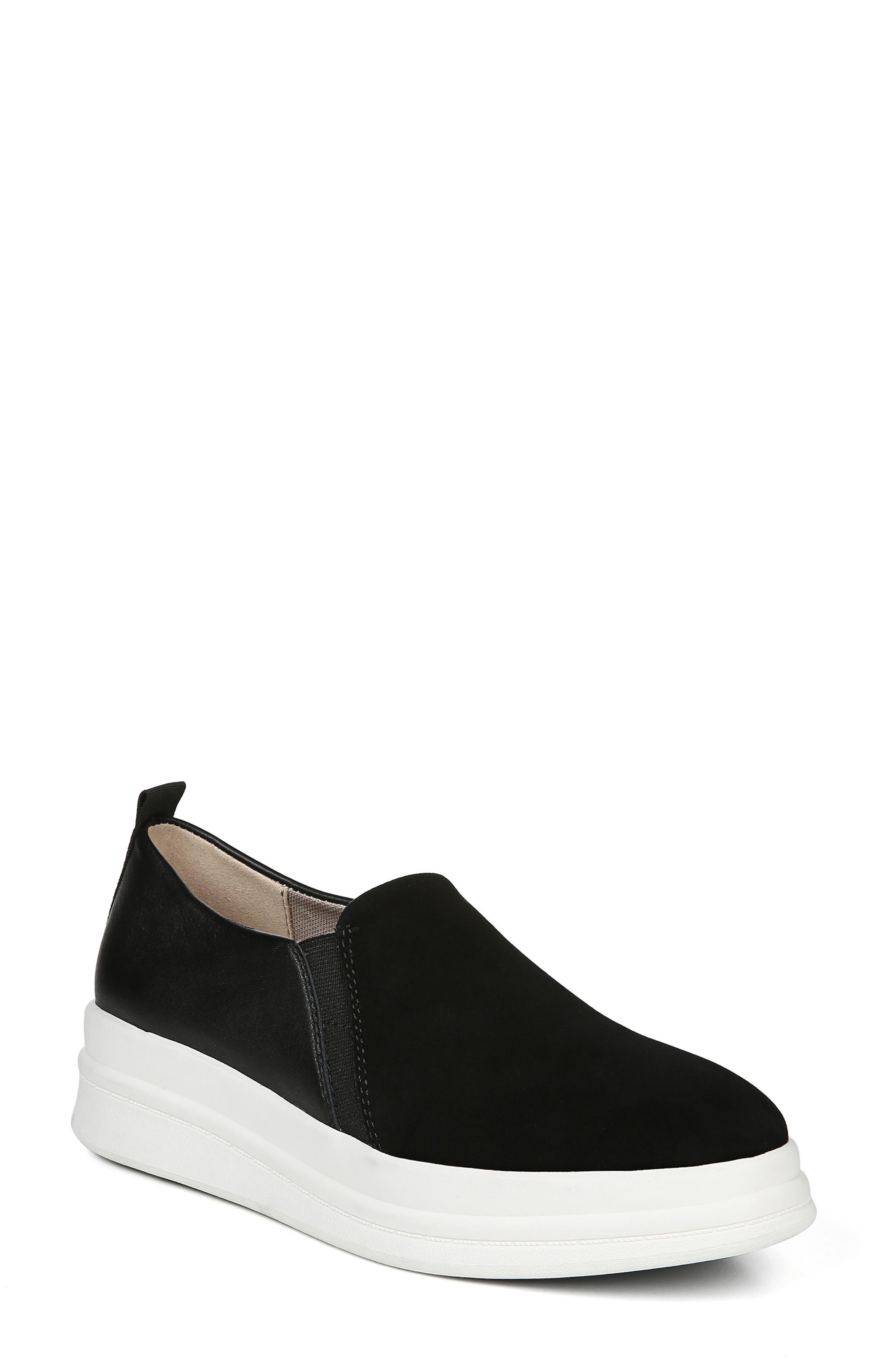 Yola Slip-On Sneaker, Main, color, BLACK SUEDE/ LEATHER