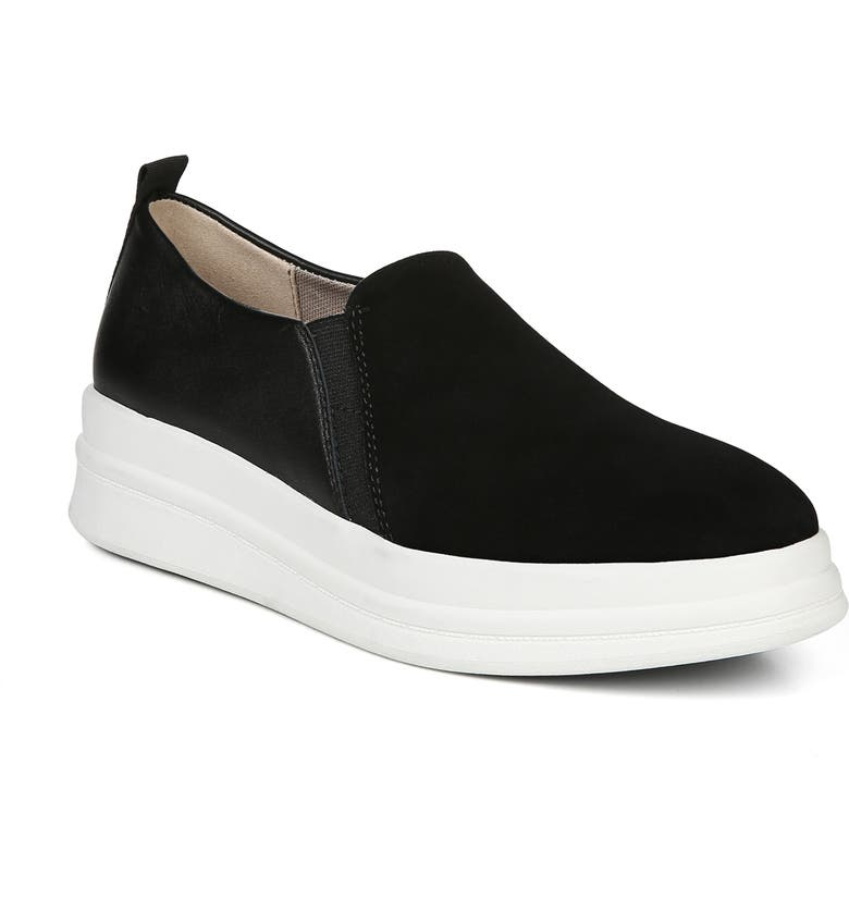 NATURALIZER Yola Slip-On Sneaker, Main, color, BLACK SUEDE/ LEATHER