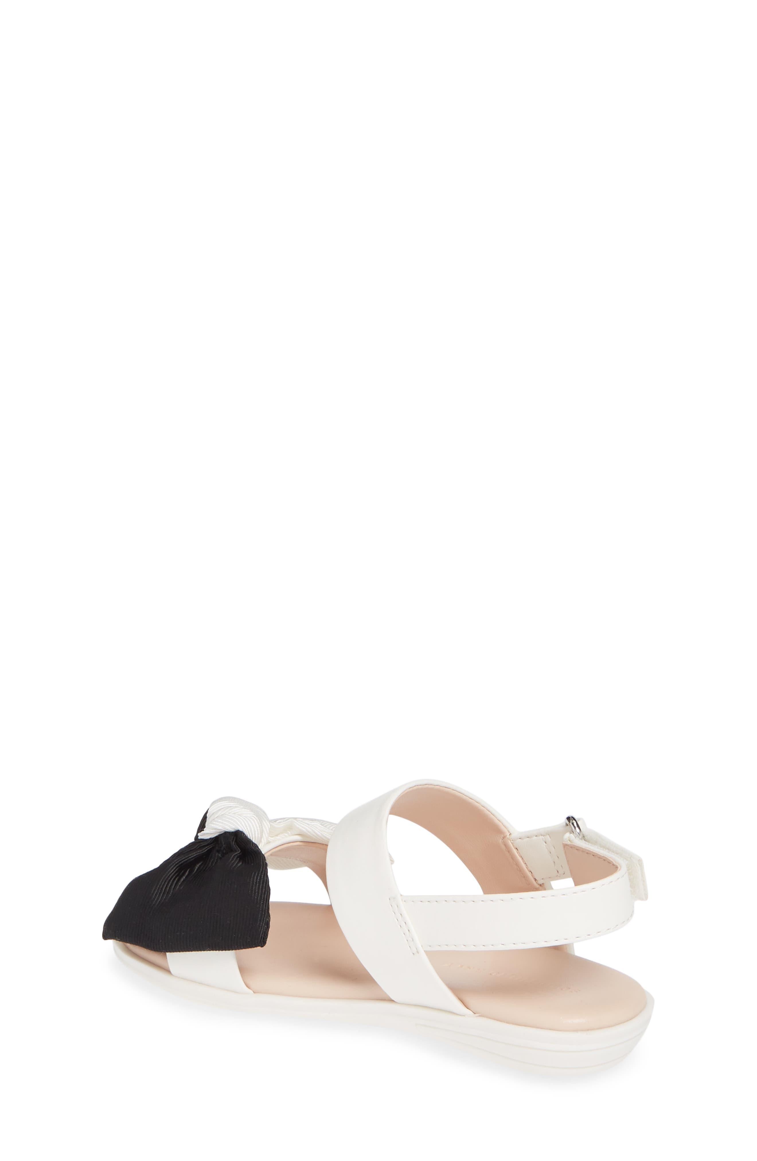 ,                             Chelsea Bow Sandal,                             Alternate thumbnail 2, color,                             WHITE/BLACK FAUX LEATHER