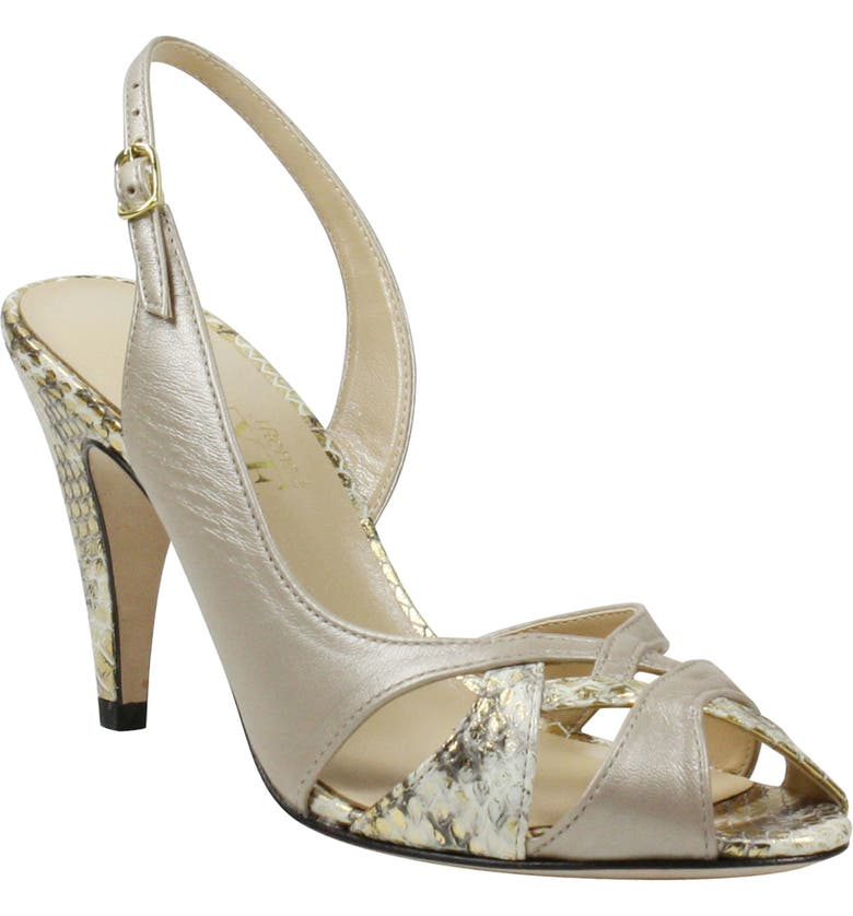 J. RENEÉ Adelyn Slingback Sandal, Main, color, SILVER LEATHER MULTI