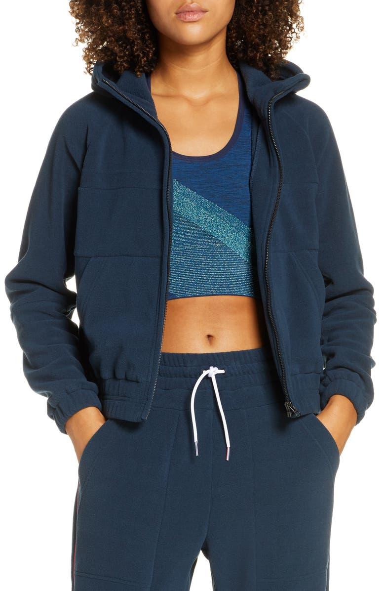 LNDR Ember Fleece Hooded Sweatshirt, Main, color, DARK PETROL