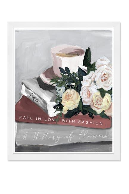 Image of Wynwood Studio Flowers Coffee and Books Blush Framed Art