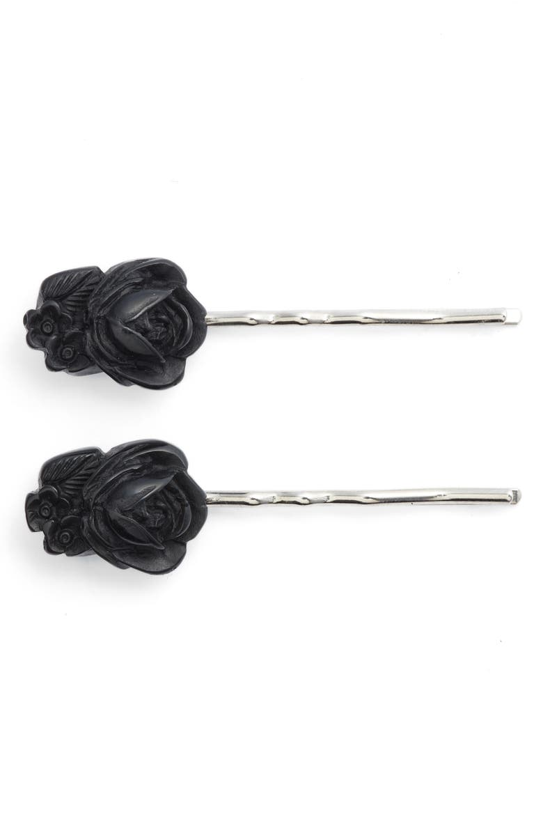 CLASSIC HARDWARE 2-Pack Rose & Flower Bobby Pins, Main, color, 001