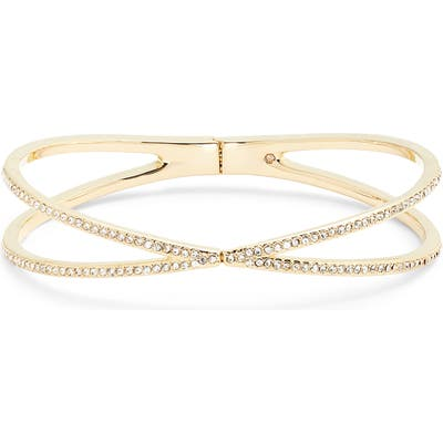 Nordstrom Pave Crisscross Hinged Cuff Bracelet