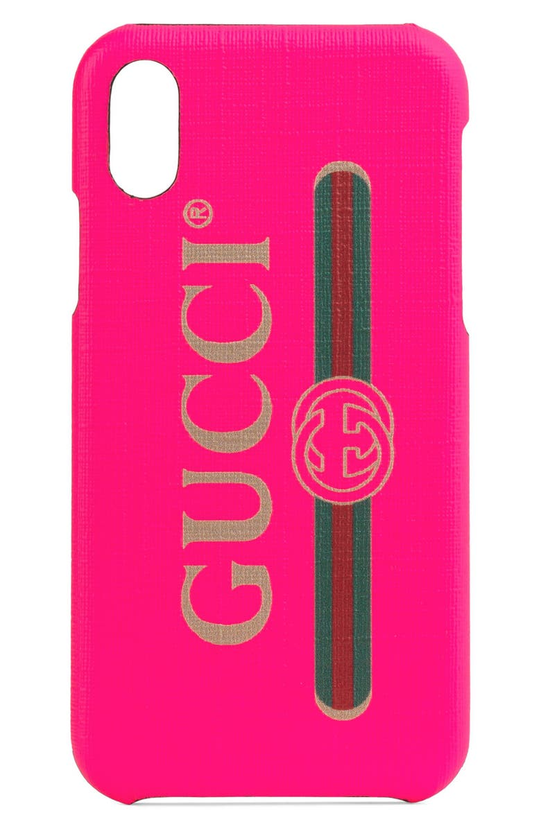 GUCCI Logo iPhone X/Xs Case, Main, color, 667