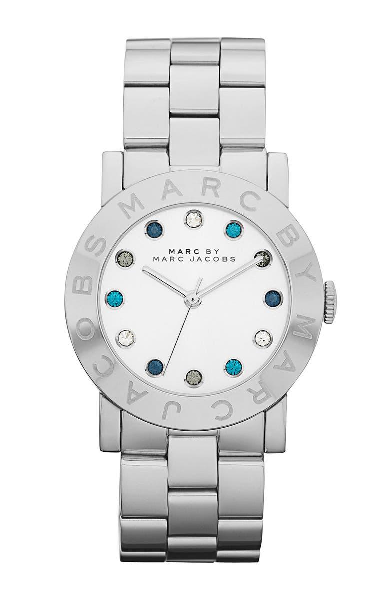 MARC JACOBS 'Dexter Amy' Round Bracelet Watch, Main, color, 040
