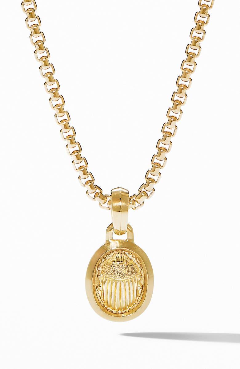 DAVID YURMAN Petrvs<sup>®</sup> Small Scarab Pendant in 18K Gold, Main, color, YELLOW GOLD