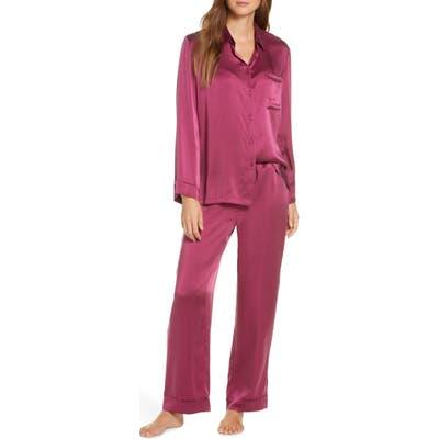 Papinelle Silk Pajamas, Burgundy