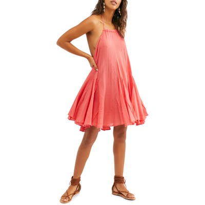 Free People Catching Rays Halter Dress, Coral