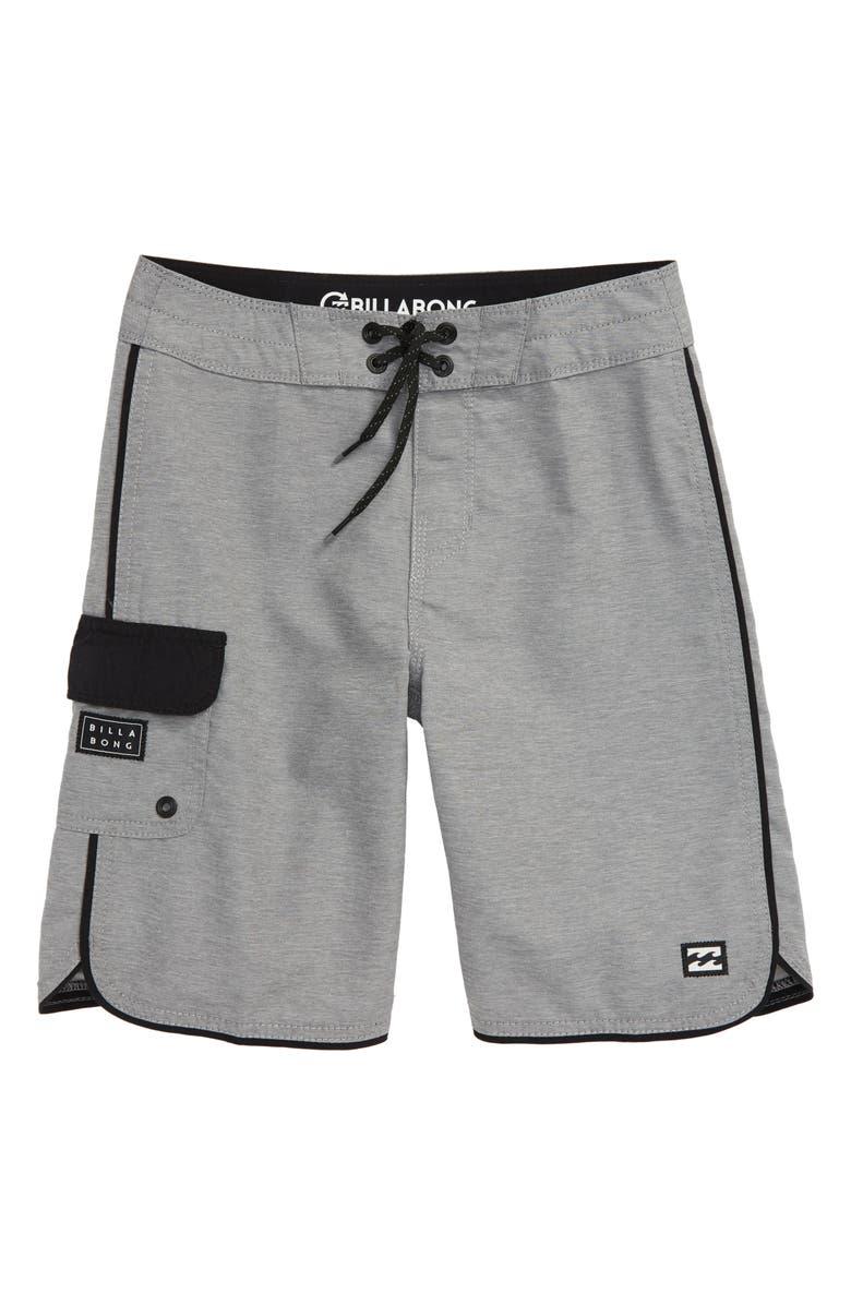 BILLABONG 73 OG Board Shorts, Main, color, DARK GREY