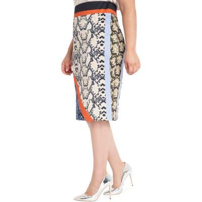 Plus Size Eloquii Neoprene Pencil Skirt, Grey