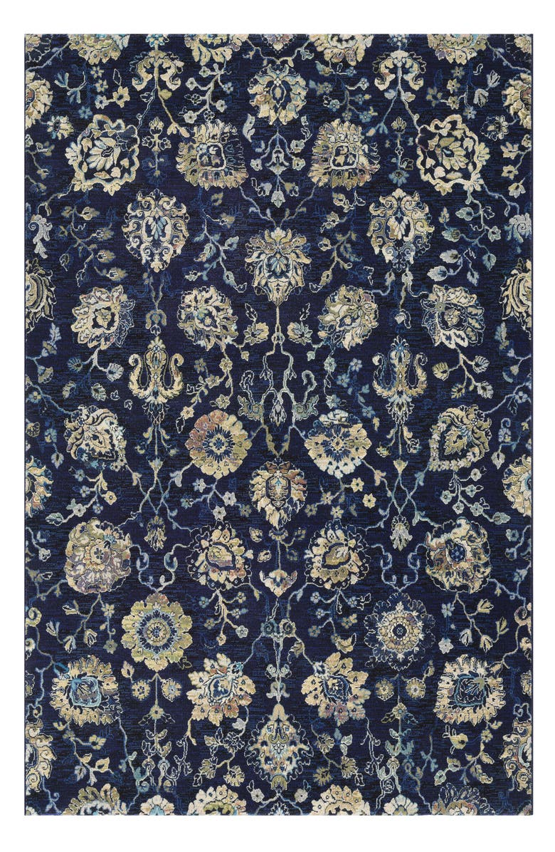 COURISTAN Easton Adaline Area Rug, Main, color, NAVY/ CREAM