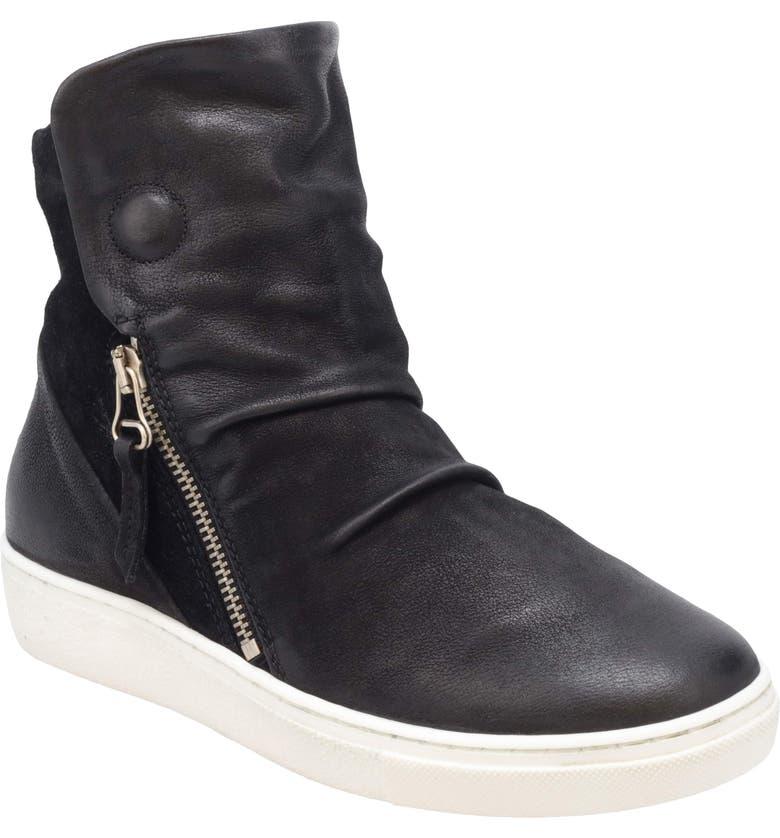 MIZ MOOZ Lavinia Sneaker, Main, color, BLACK LEATHER