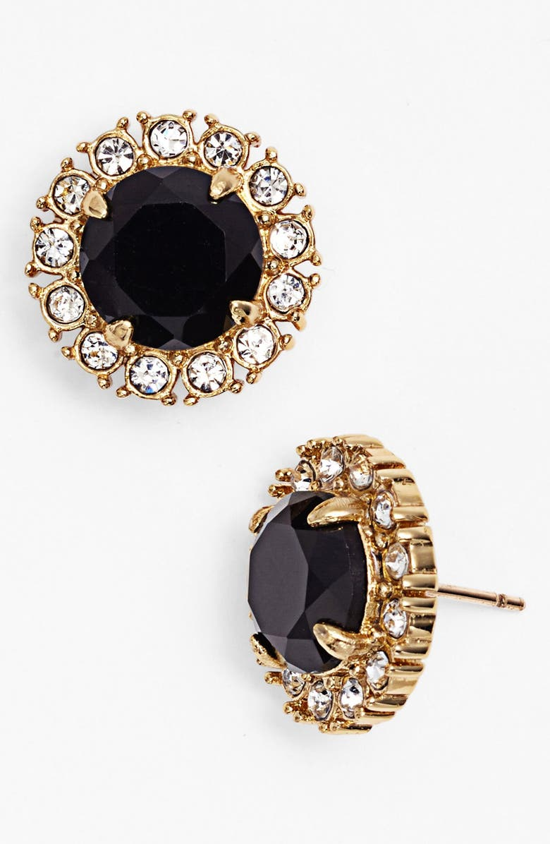 KATE SPADE NEW YORK 'secret garden' mixed stone stud earrings, Main, color, 001