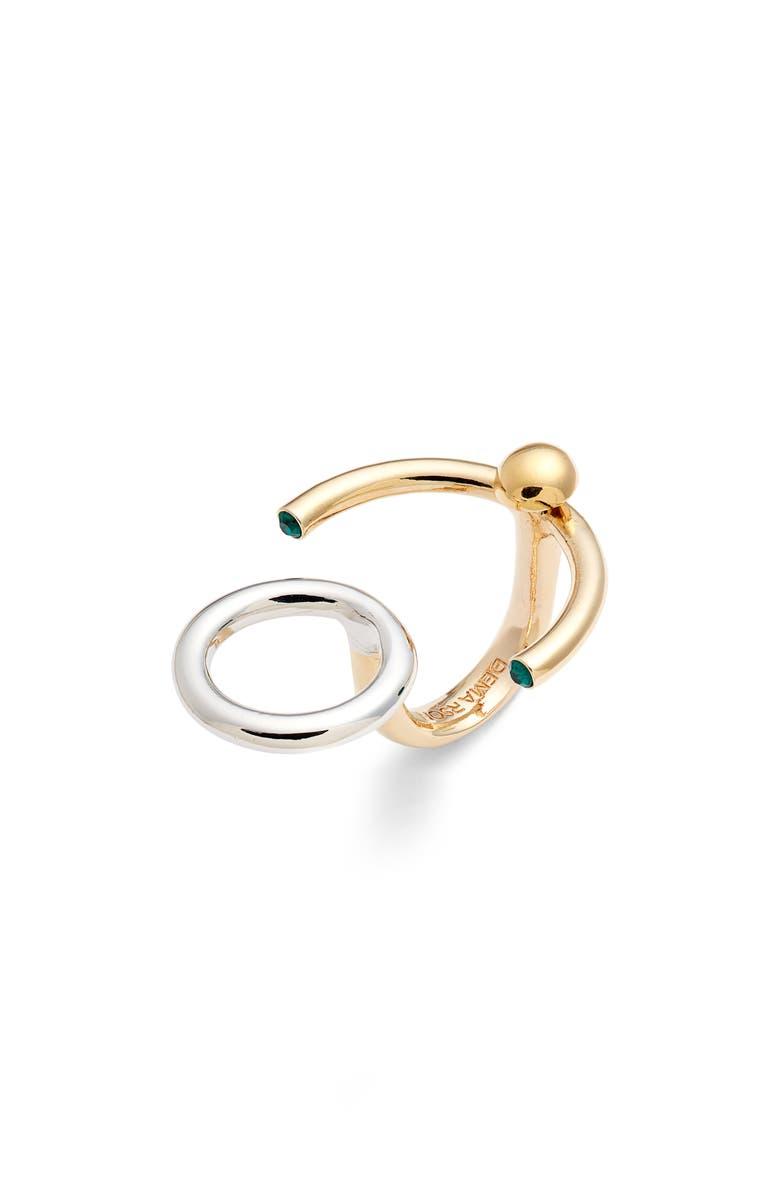DEMARSON Nova Convertible Ring/Earring, Main, color, 710