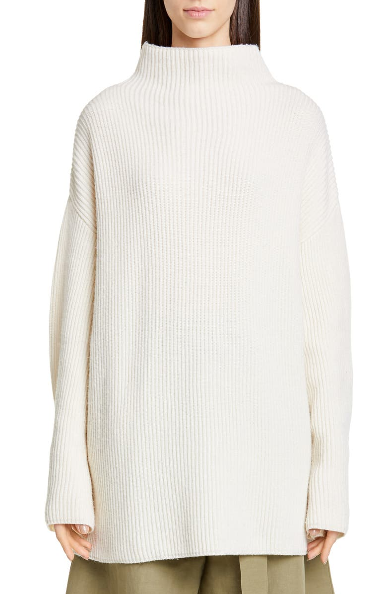 CO Button Cuff Wool & Cashmere Sweater, Main, color, IVORY