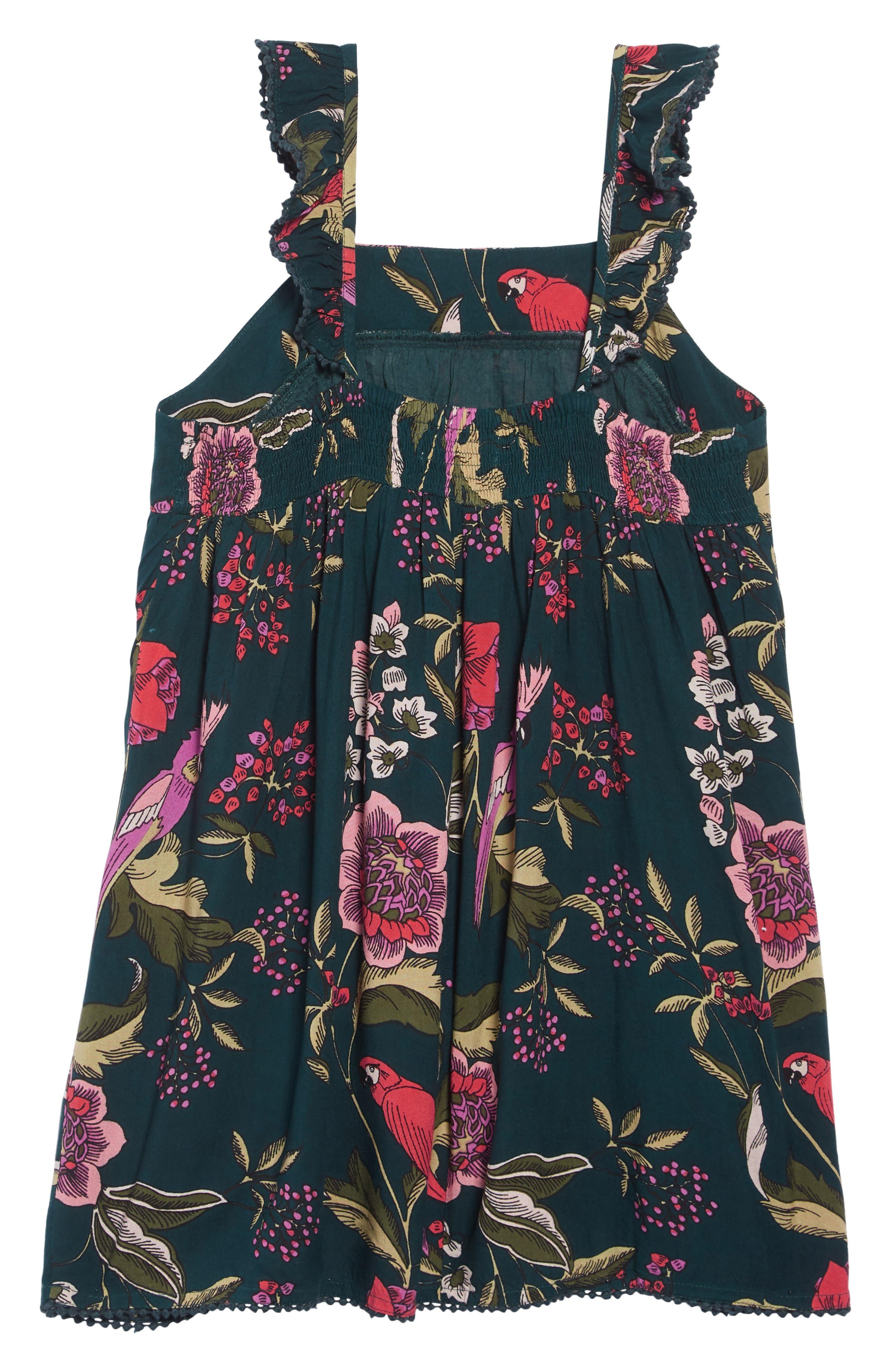 ,                             Tropical Print Dress,                             Alternate thumbnail 2, color,                             GREEN