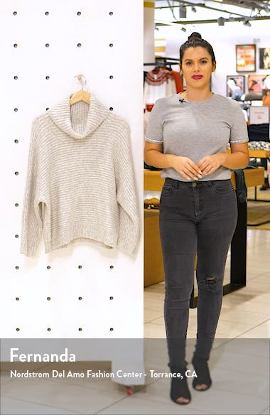 Cowl Neck Dolman Sleeve Sweater, sales video thumbnail