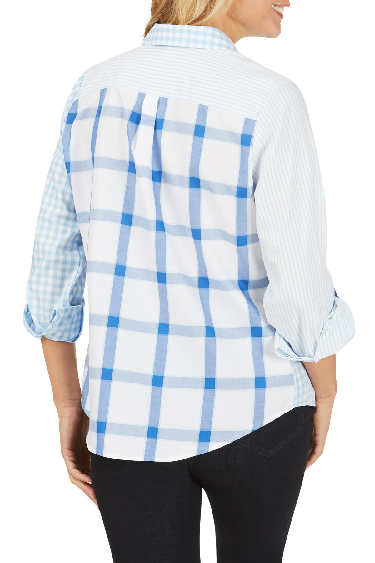 Image of FOXCROFT Hampton Non-Iron Pattern Play Shirt