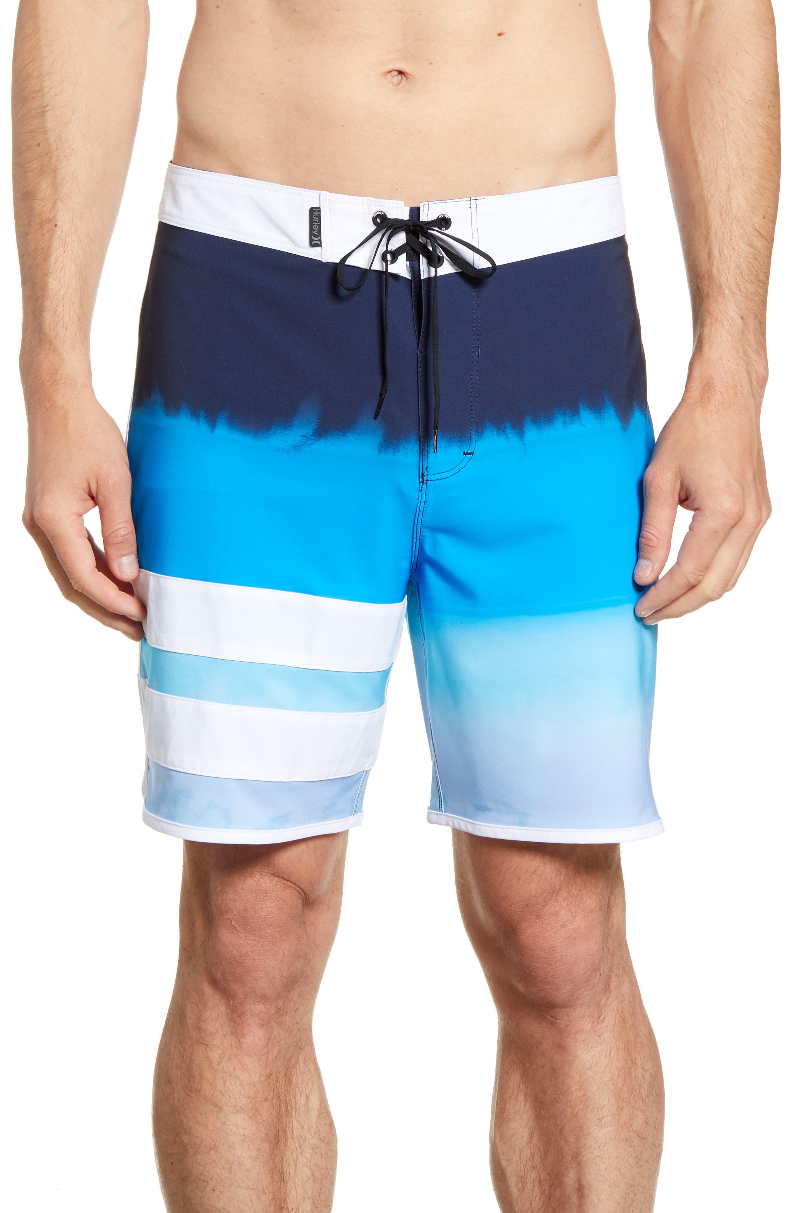 Hurley Phantom Block Party Fever Board Shorts, Blue