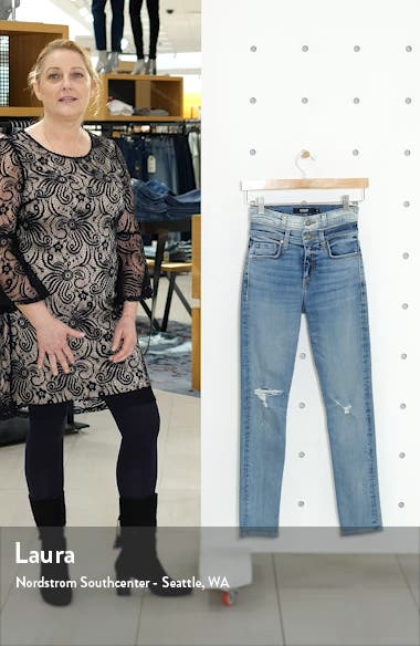 Holly Double Waistband Ankle Skinny Jeans, sales video thumbnail