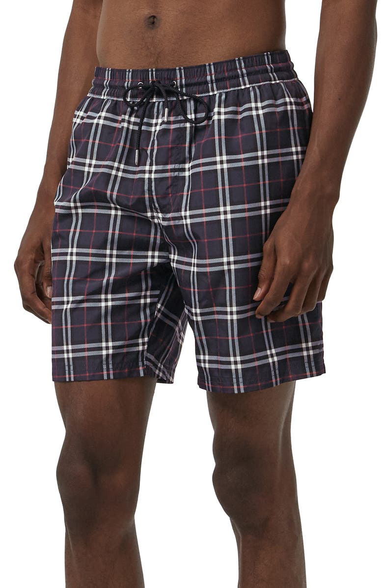 BURBERRY Guildes Swim Trunks, Main, color, NAVY