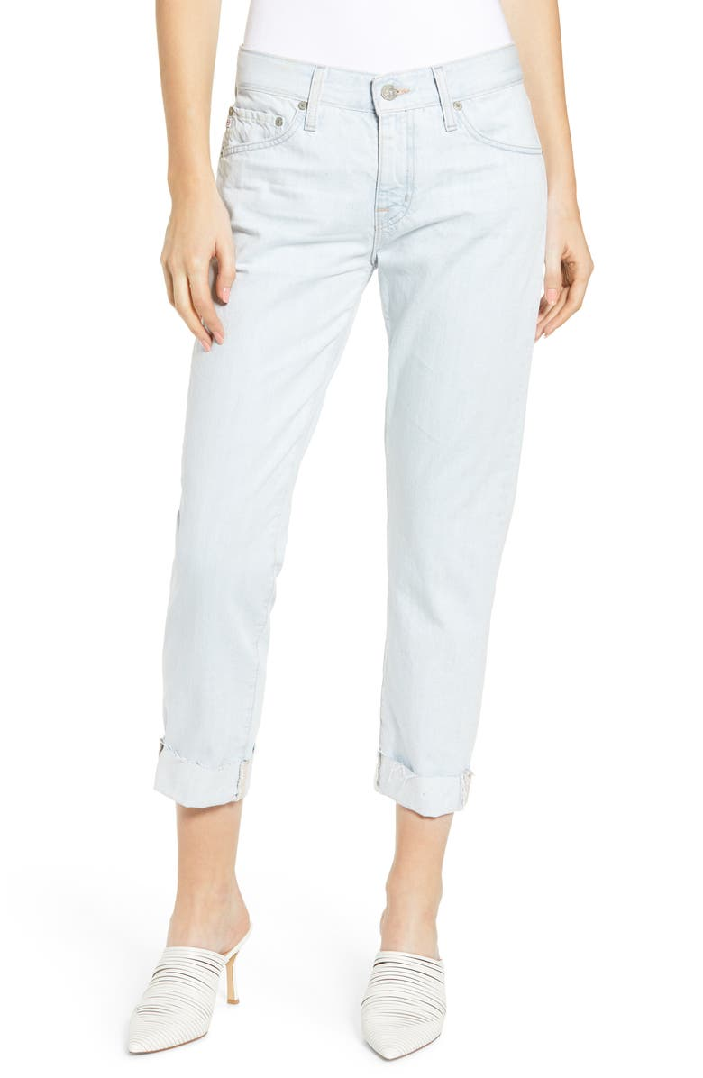 AG The Ex-Boyfriend Ripped Crop Slim Jeans, Main, color, 450