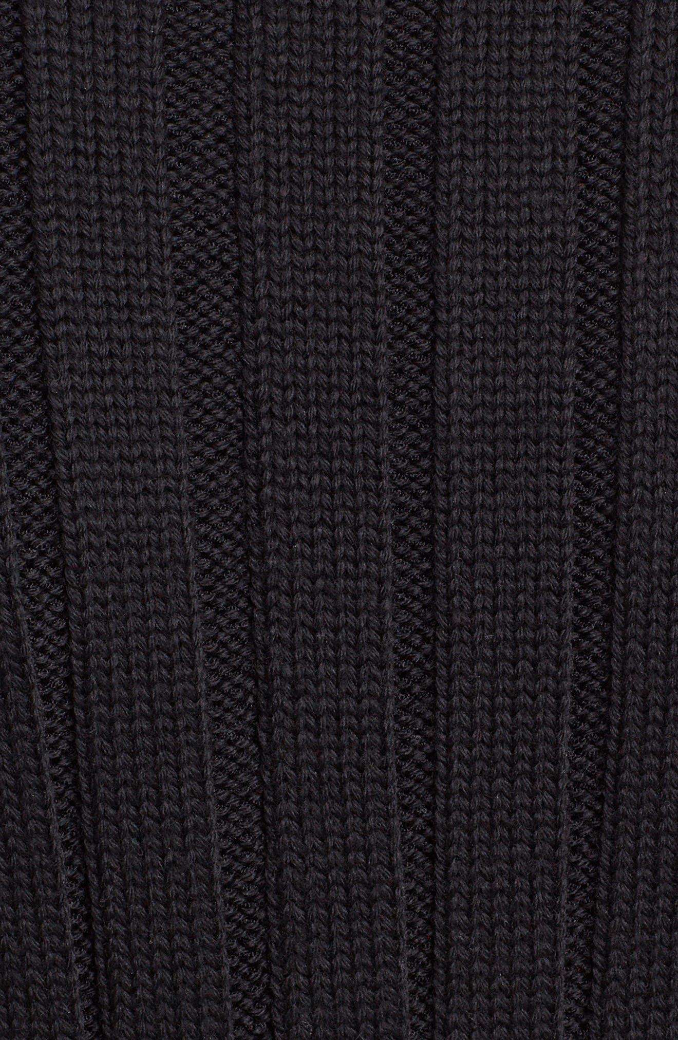 ,                             Contrast Cuff Rib Knit Peplum Cardigan,                             Alternate thumbnail 5, color,                             007