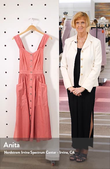 Sleeveless Cotton Poplin Dress, sales video thumbnail