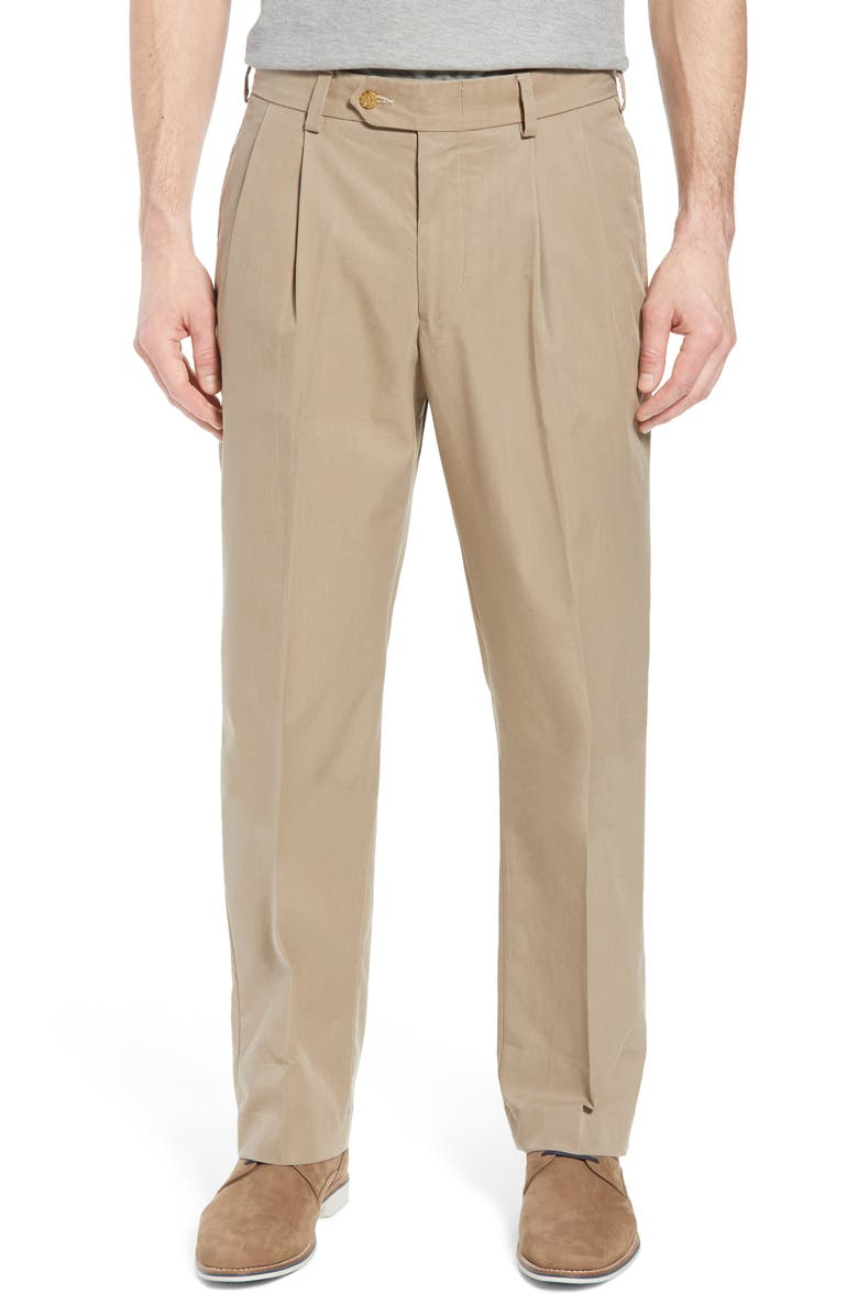 BILLS KHAKIS M2 Classic Fit Pleated Travel Twill Pants, Main, color, KHAKI