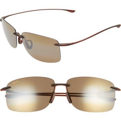 Maui Jim Hema 62mm Polarizedplus2 Oversize Rimless Sunglasses - Matte Rootbeer