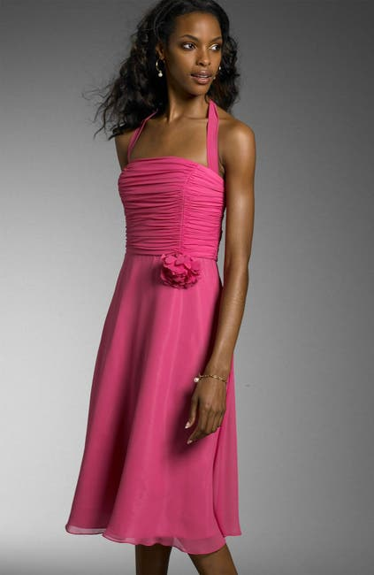 Image of Maggy London Puffed Sleeve Sheath Dress