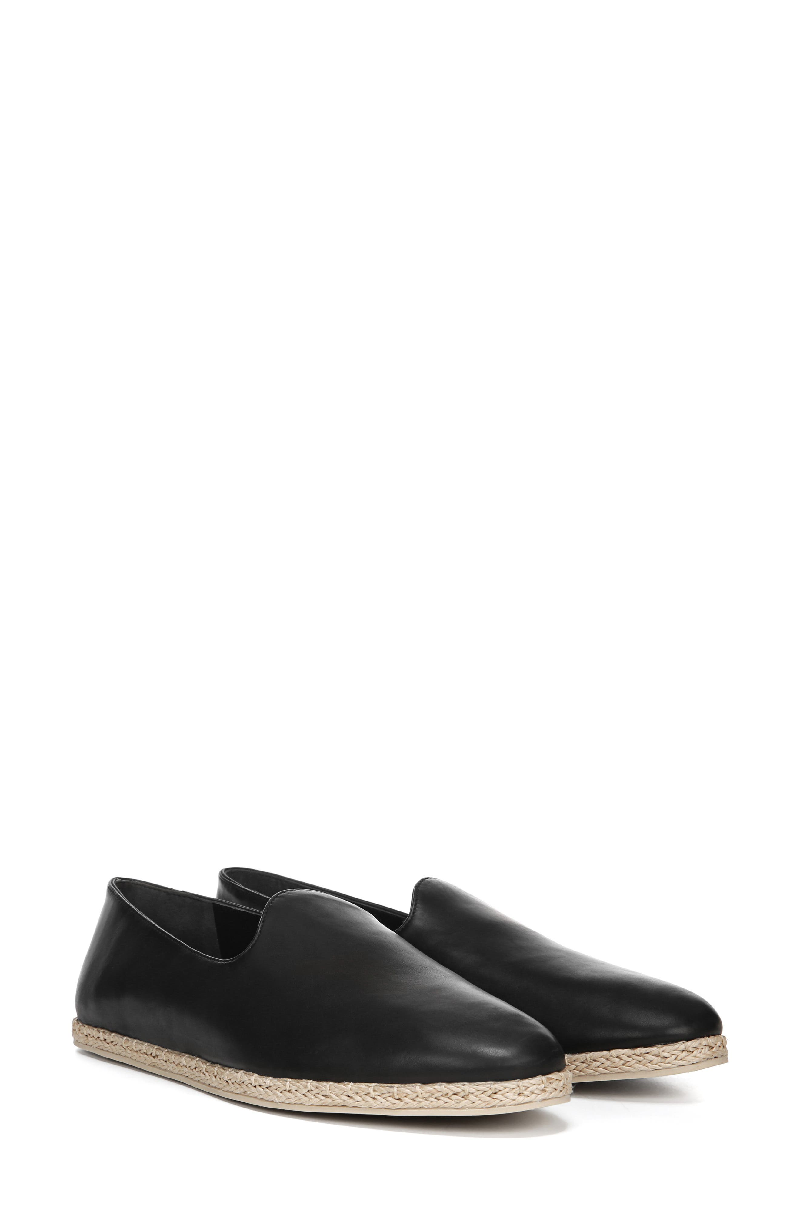 ,                             Malia Loafer Flat,                             Alternate thumbnail 8, color,                             BLACK LEATHER